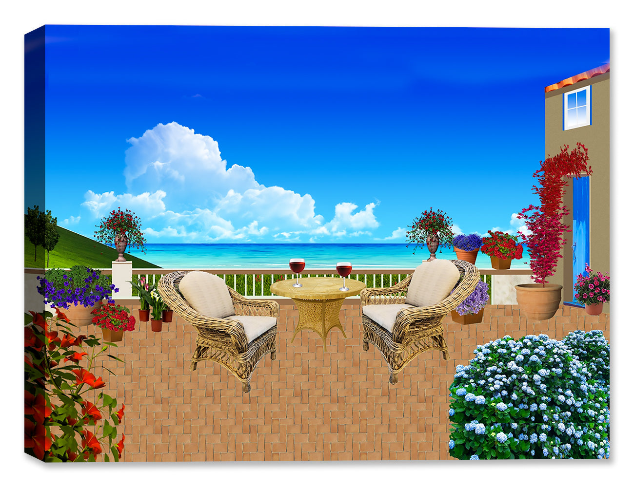 Chillin' on the Ocean - Canvas Art Print