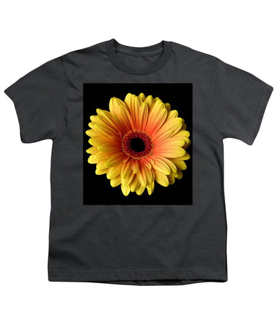 Sunflower On Black - Youth T-Shirt
