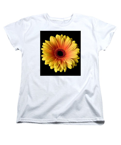 Sunflower On Black - Women's T-Shirt (Standard Fit)