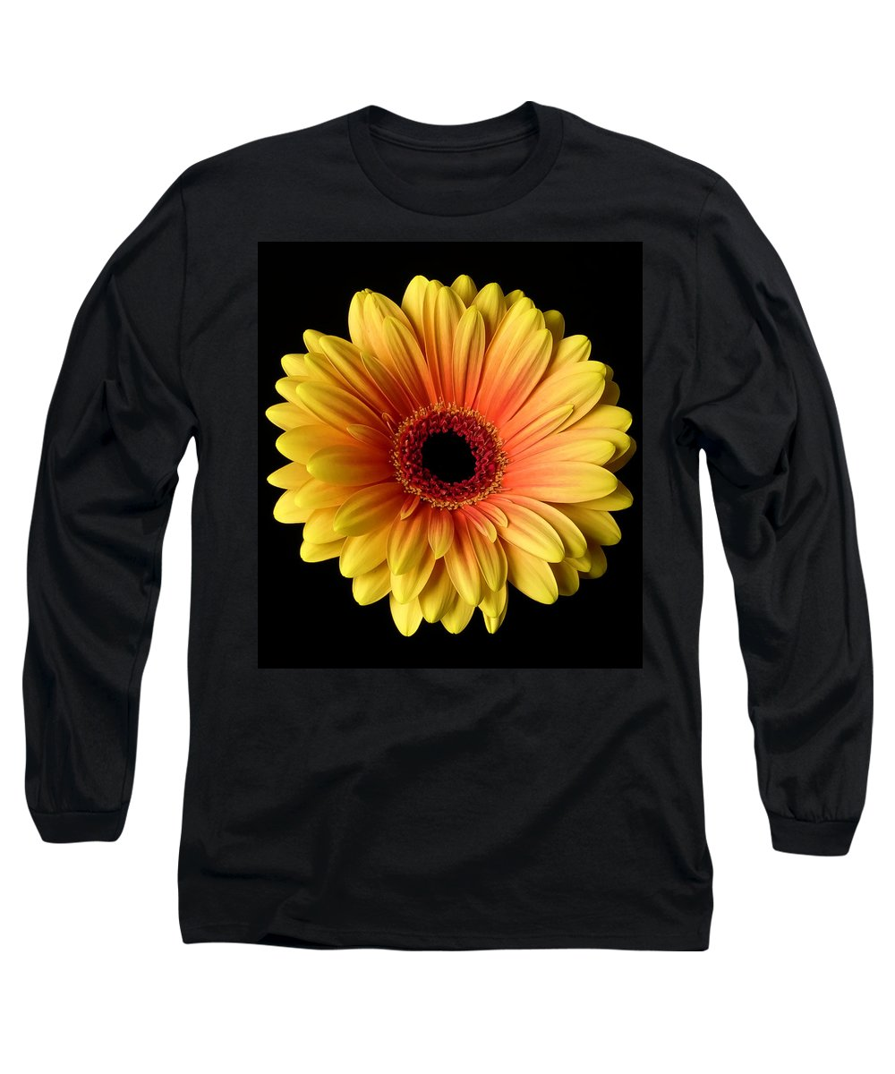 Sunflower On Black - Long Sleeve T-Shirt