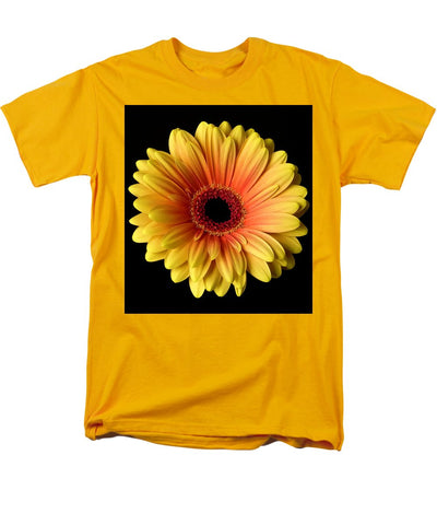 Sunflower On Black - Men's T-Shirt  (Regular Fit)
