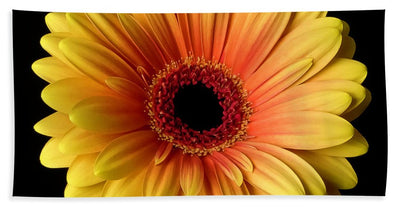 Sunflower On Black - Bath Towel