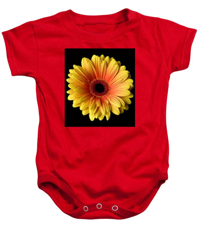 Sunflower On Black - Baby Onesie