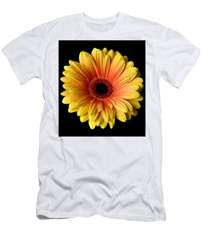 Sunflower On Black - Men's T-Shirt (Athletic Fit)