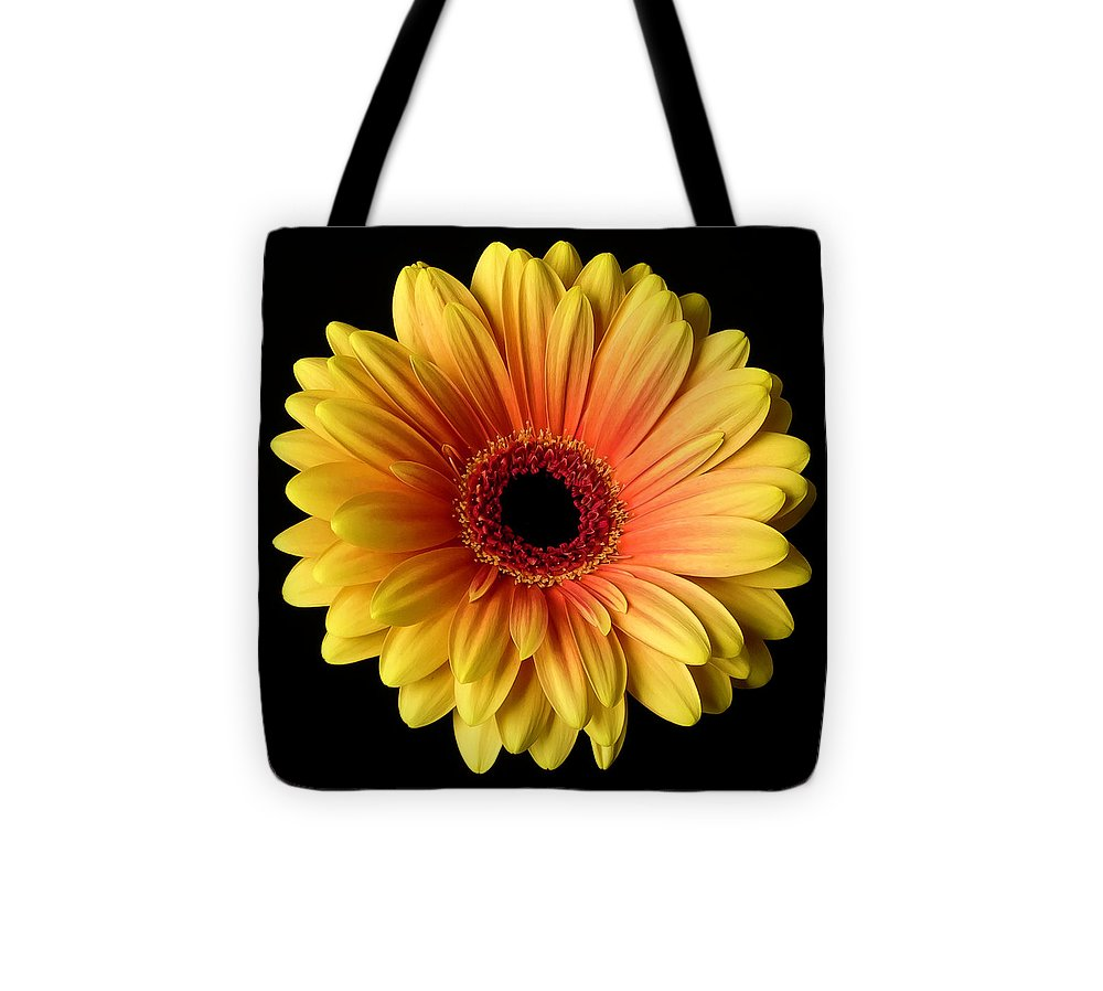 Sunflower On Black - Tote Bag