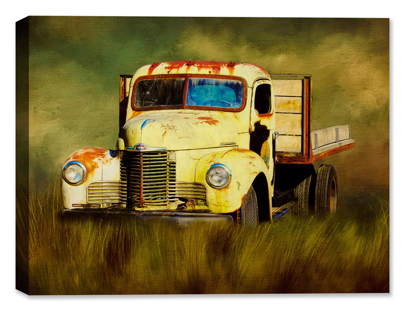 Sunflower Truck - Canvas Art