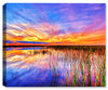 Evening Sunset  - Photo on Fine Art Canvas - Canvas Art Plus