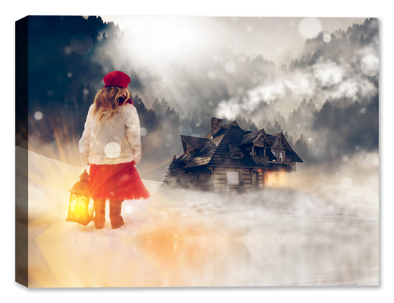 Winter Night  - Canvas Art