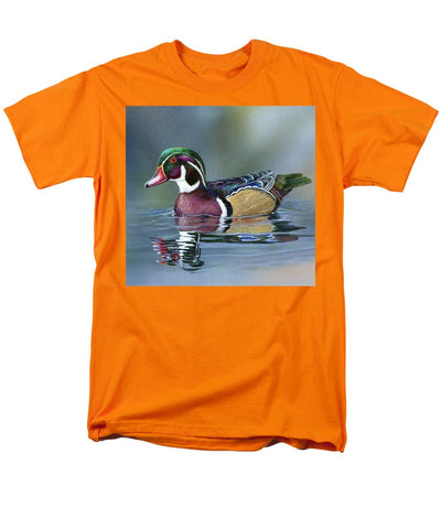 Wood Duck On Water - Men's T-Shirt  (Regular Fit)