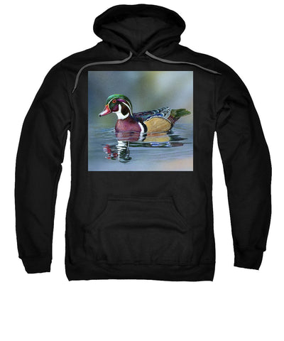Wood Duck On Water - Sweatshirt