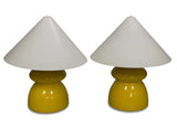 A Pair of Italian Yellow Ceramic Lamps