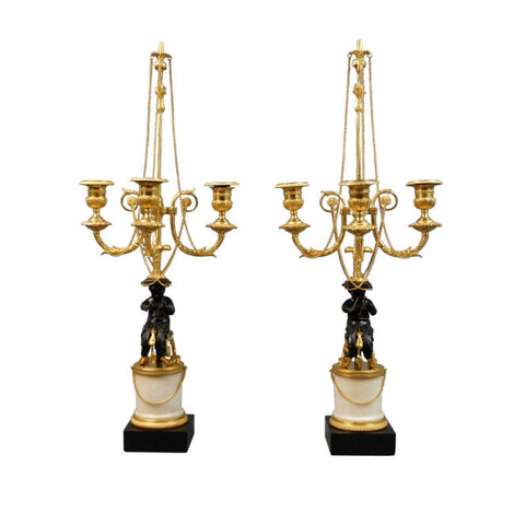 A Pair of Louis XVI Candelabra
