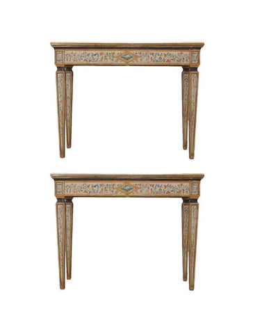 A Pair Of Italian Console Tables