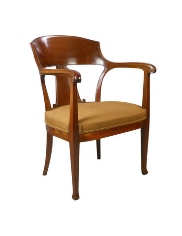 A Swedish Mahogany Art Nouveau Chair