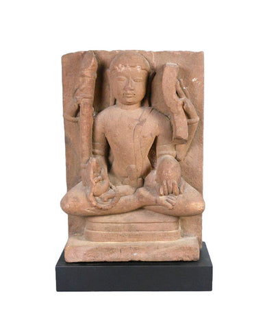 An Indian Sandstone Relief of a Jain Deity