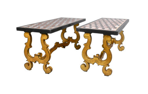 A Pair of Italian Giltwood Coffee Tables