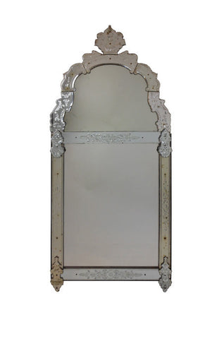 A Northern European Regence Period Glass Mirror