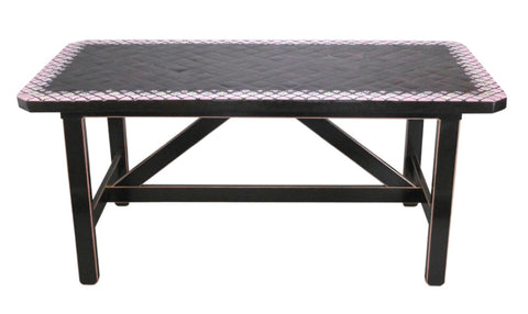 A Rectangular Tile Top Table by Bjørn Wiinblad