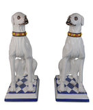 A Pair of Ceramic Dogs Made for Svenkst Tenn