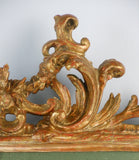 A Pair of Rococo Giltwood Mirrors
