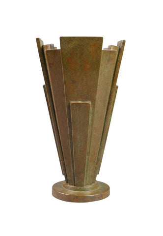 A Japanese Patinated Bronze Vase
