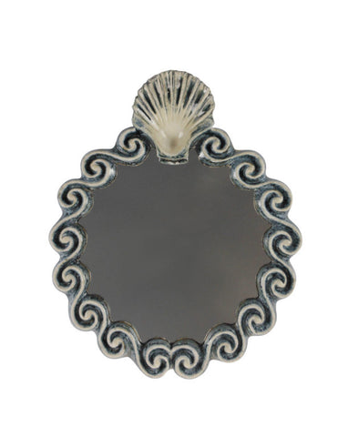 A Stoneware Scallop Mirror by Gail Dooley