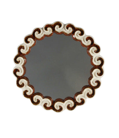 A Stoneware Cloud Mirror by Gail Dooley