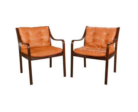 A Pair of Danish Beechwood Chairs