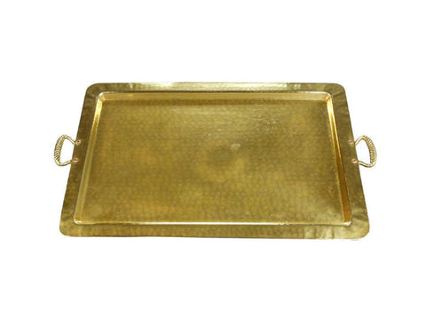 An Arts and Crafts Hammered Brass Tray