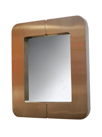 A Large French Metal Mirror