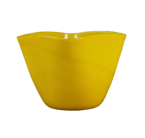 A Murano Yellow Glass Vase
