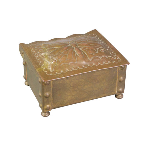 A Swiss Art Nouveau Brass Box
