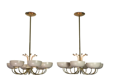 A Pair of Mid-Century Chandeliers