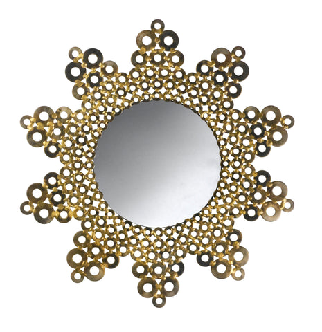 Circular Steel Sunburst Mirror