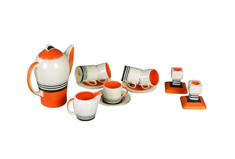 An Art Deco Coffee Set by Susie Cooper