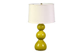 A Yellow Ceramic Triple Gourd Lamp