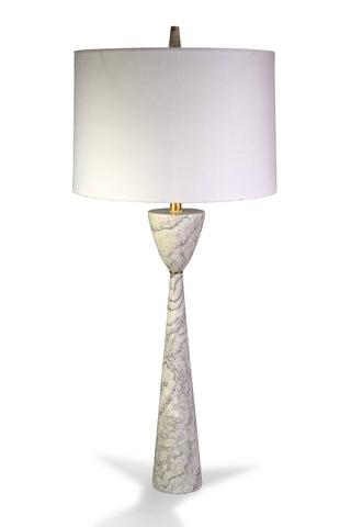 An Italian Tall Geometric Marble Lamp