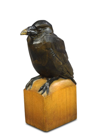 A Sculpture of a Crow