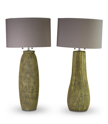 A Pair of Ceramic Lamps by Kelby