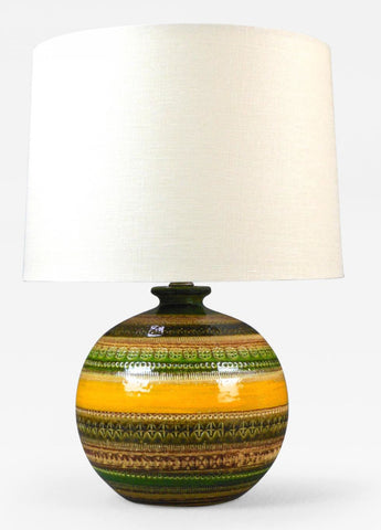 An Italian Ceramic Lamp
