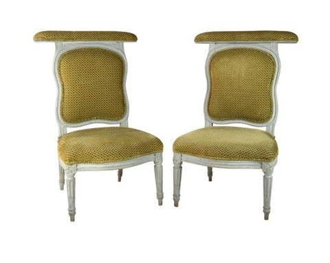 A Pair of Louis XVI Painted Voyeuses