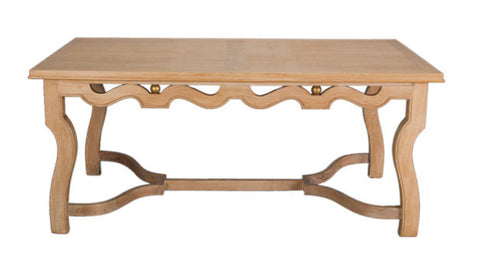 A Large French Cerused Oak Center Table