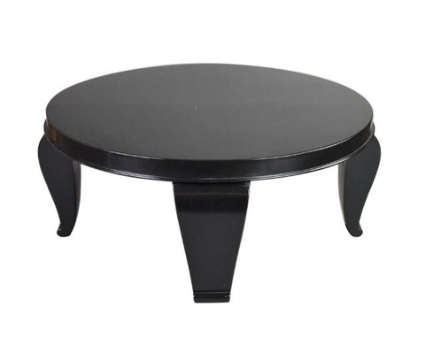 A French Black Lacquer Table Attributed to Rene Prou