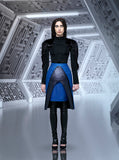 Sparkle Open Skirt black blue model view image photo picture