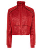 Rouge Jacket red crop shiny jacquard front image photo picture