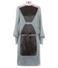Drawstring Dress long grey gray black pink front image photo picture