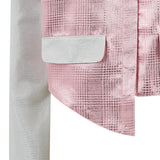 Mini Jacket crop silver pink metallic front view close-up image photo picture