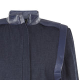 Purser Jacket coat outerwear blue denim front close-up image photo picture