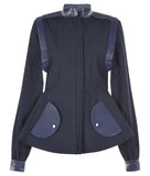 Purser Jacket coat outerwear blue denim front image photo picture