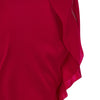 Red Flutter Skirt long asymmetrical stretch satinflutter front close-up image photo picture